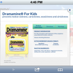 Dramamine for Kids product description